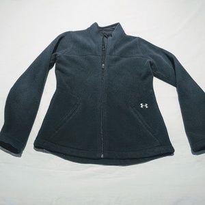 Women's Under Armour Black Fitted Fleece Jacket M